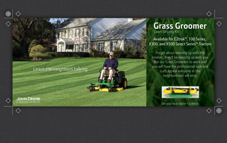 Grass Groomer Lawn Striping Kit Mailer